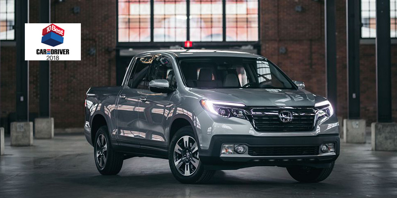 Ridgeline Car and Driver Best Pickup Truck 2018